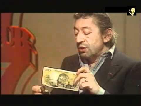 Gainsbourg brûle un billet de 500 Francs..mp4