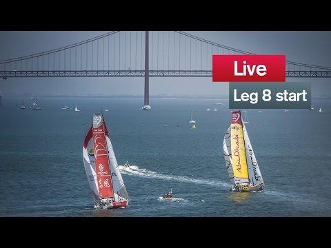 Live recording: Leg 8 start - Lisbon - Lorient
