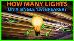 How Many Lights on a 15A Circuit Breaker? Calculate Wattage for 15 Amp Circuit & Number of Fixtures