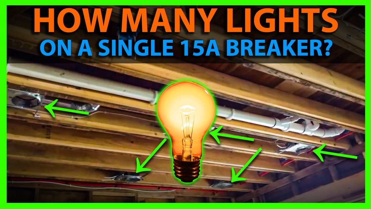 How Many Lights On A 15a Circuit Breaker Calculate Wattage For 15 Fluorescent Light Wiring Diagram Uk Amp Number Of Fixtures Youtube
