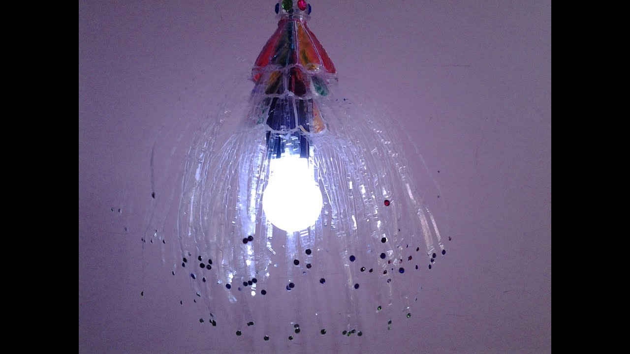 Best Out Of Waste Plastic Bottle Lamp Shade - YouTube