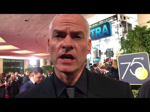 Martin McDonagh 'Three Billboards' Golden Globes 2018 red carpet exclusive