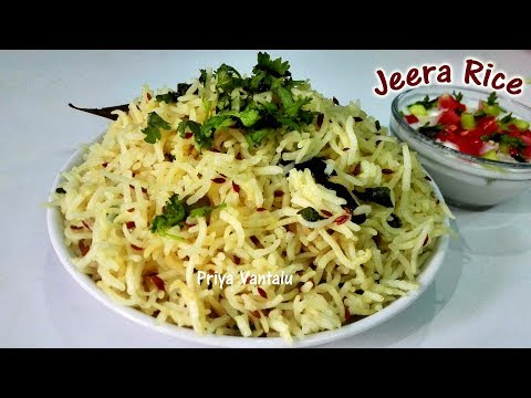 Jeera Rice Recipe - How To Make Perfect Jeera Rice - Flavoured Cumin Rice - Easy Jeera Rice Recipe