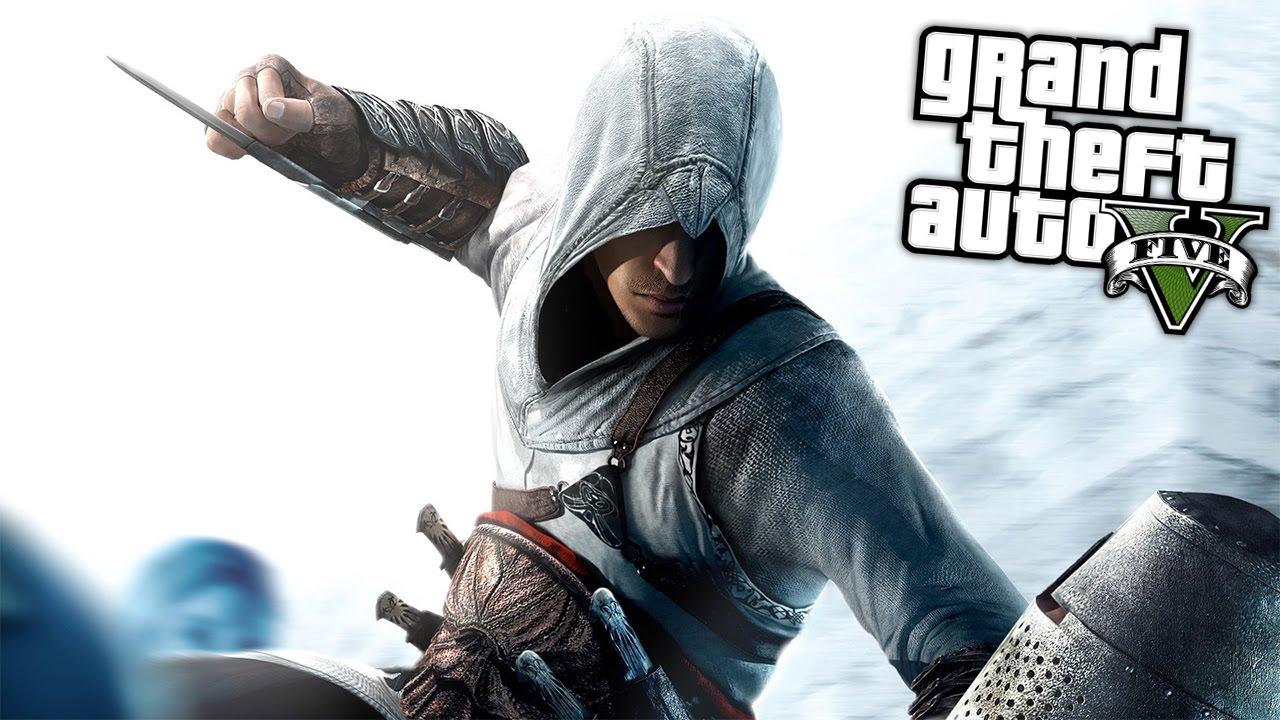 Assassin S Creed Mod Gta 5 Mod Komik Anlar Youtube