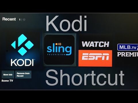 Kodi Shortcut for the Amazon Fire TV/Stick