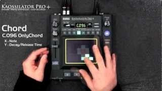 KORG KAOSSILATOR PRO+ (2/3) New Sounds : Chord / SE