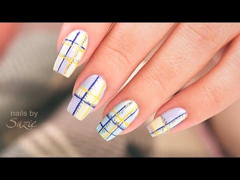 Plaid Inspired Nails using Drugstore Nail Polish