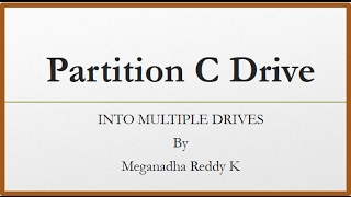 C Drive Partition Windows 10 to Multiple Drives [Easy Steps]