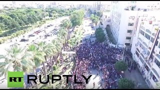 Syria: Drone captures pro-Russian rally in port city of Tartus