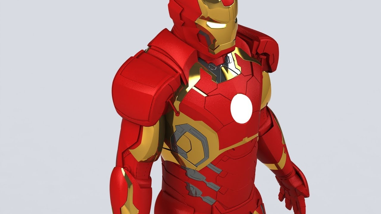 Iron man 3d model download free