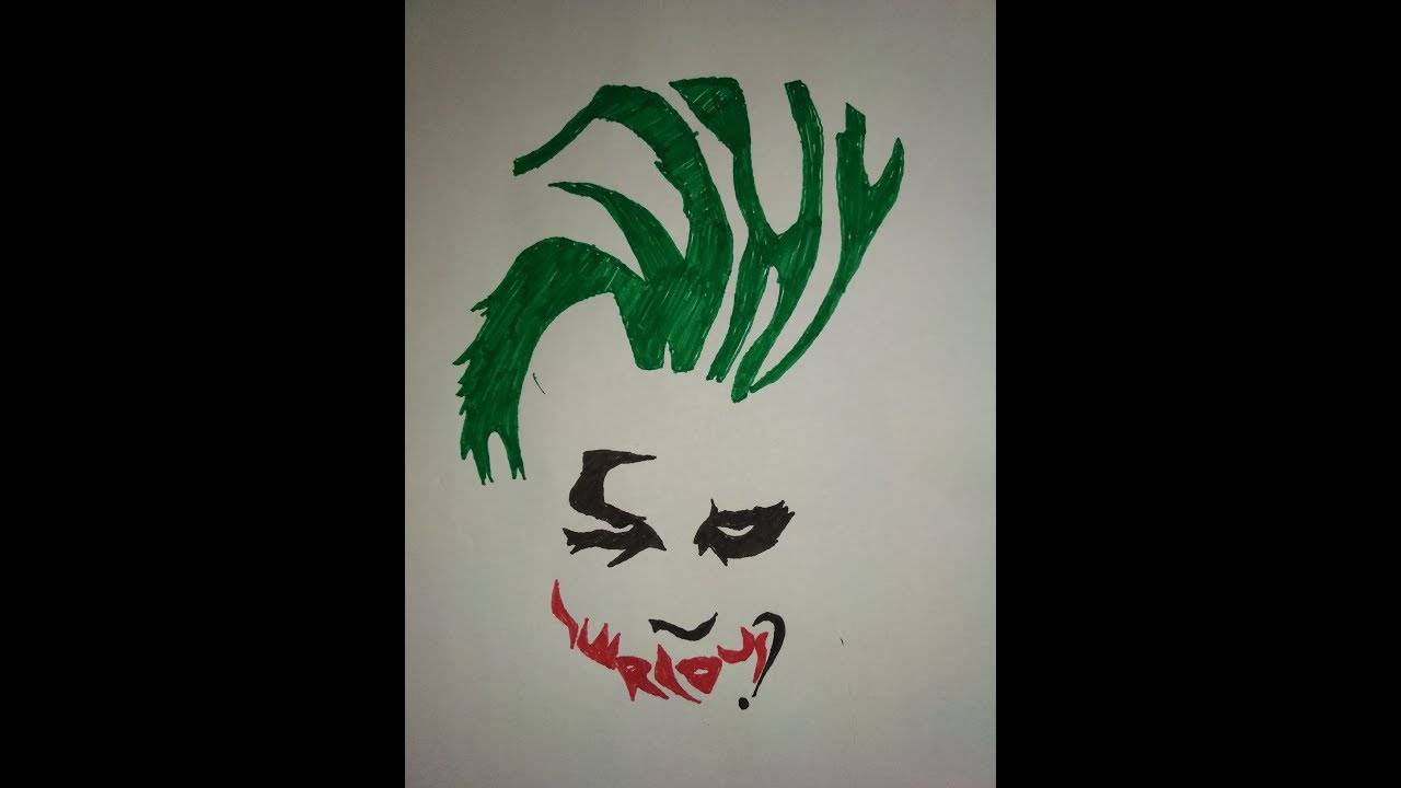 How To Draw Joker Dark Knight From Words Why So Serious