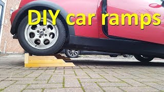 Super cheap DIY car ramp