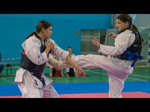 Женские Бои в Полный Контакт! Турнир Леди-Каратэ! Karate Girls In Russia!