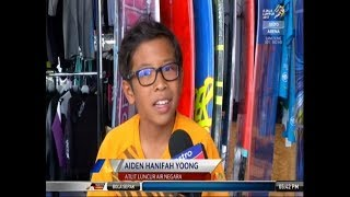 Aiden Yoong Hanifah getting more confident on TV - Astro Nadi Arena prime time news 19.07.17 - Stafaband