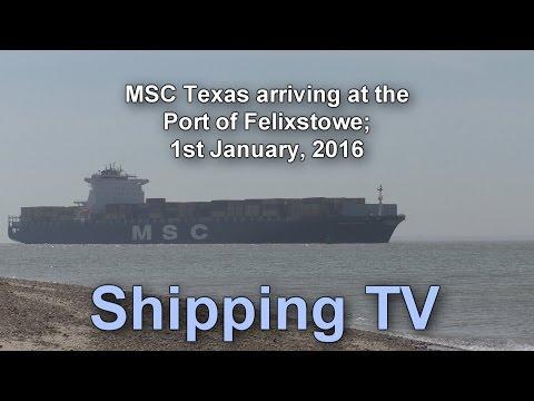 MSC Texas arriving Felixstowe, 9th May 2016