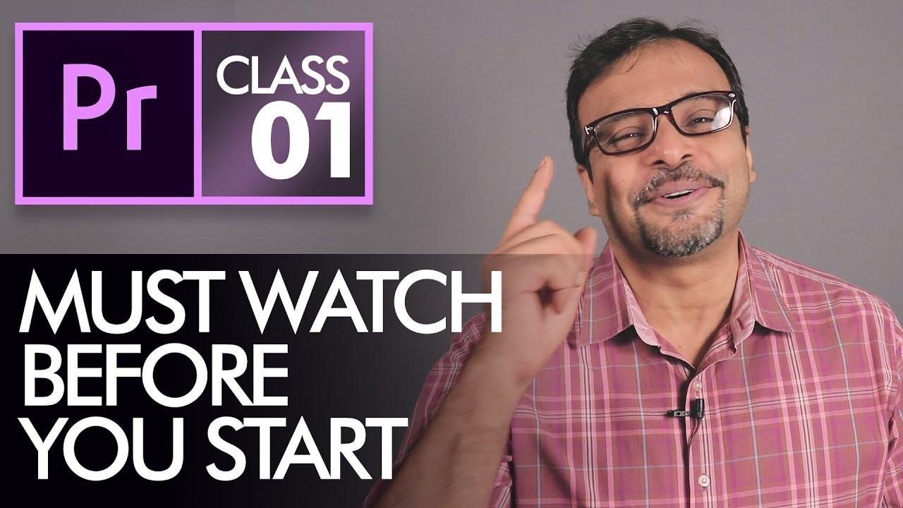 Download Before you Start Learning Adobe Premiere Pro CC Class 1 - Urdu / Hindi