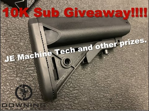 10K Sub Giveaway!!! JE Machine Tech and other prizes.