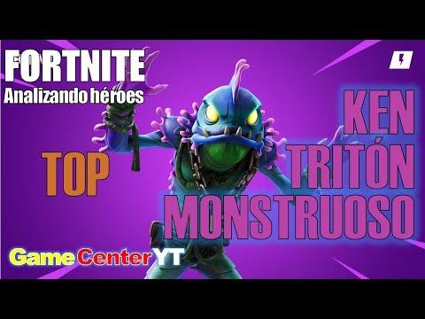 Ninja TOP KEN TRITÓN MONSTRUOSO Guía de héroes FORTNITE Salva el Mundo