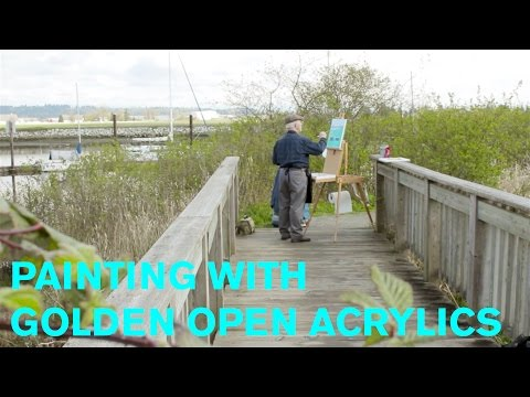 How To: Painting with Golden OPEN Acrylics featuring Bob McMurray