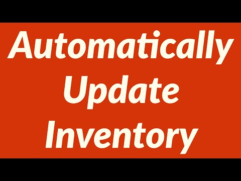 Automatically Update Inventory while Creating Invoice