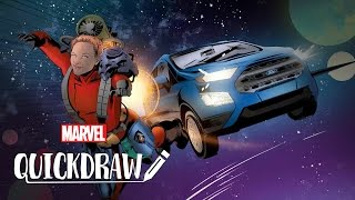 Watch an Illustrator in Action - Marvel Quickdraw