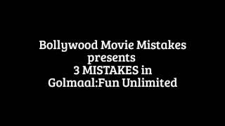 Gambar cover 3 Mistakes in Golmaal: Fun Unlimited