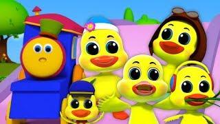 боб поезд   пять маленьких уток   дошкольные песни   Bob Train Rhymes   Five Little Ducks