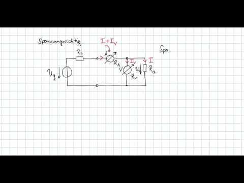 Grundlagen der Elektrotechnik - spannungsrichtige Messung