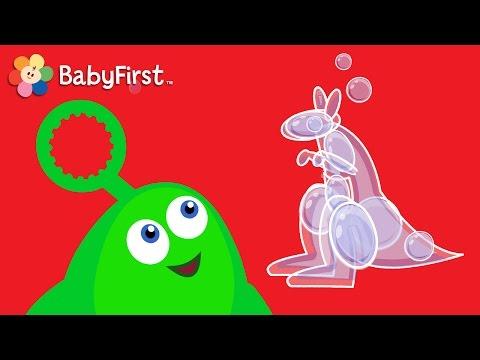 Kangaroo  Learning Cartoons for Babies  Bloop and Loop  BabyFirst TV