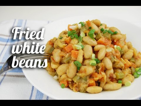 Fried White Beans Recipe (Vegetarian)