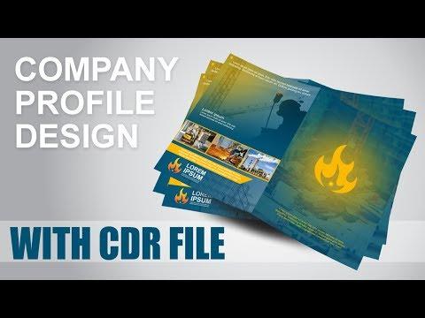 CorelDraw Tutorial | Business Company profile Design - With CDR File Urdu/hindi tutorial thumbnail