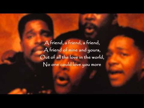 The Winans - A Friend (featuring Aaron Hall)