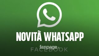 la nuova schermata di WhatsApp
