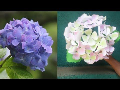 How to make beautiful Hydrangea paper flowers DIY Paper Hydrangea Flowers