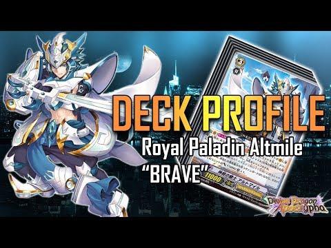 "Cardfight!! Vanguard Deck Profile : Royal Paladin Altmile ""Brave"" (GBT-14)"