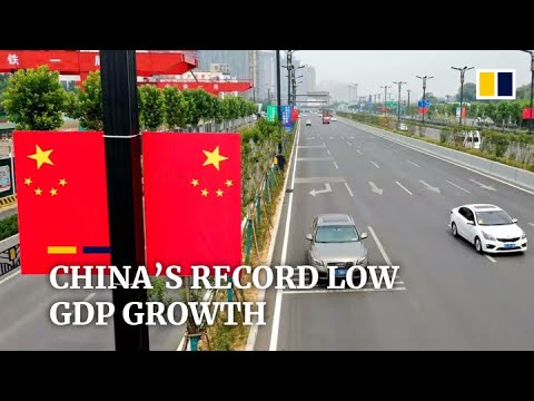 China Reports Record Low Economic Growth Rate For Third Quarter