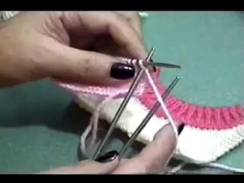 Hướng dẫn đan cổ tròn áo len (cách 3)