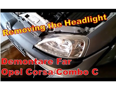 Demontare far Opel Corsa C   Headlight removal