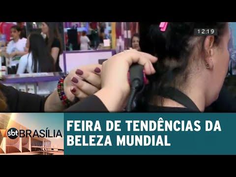 Tendências da beleza mundial na feira Hair Brasília and Beauty | SBT Brasília 16/07/2018