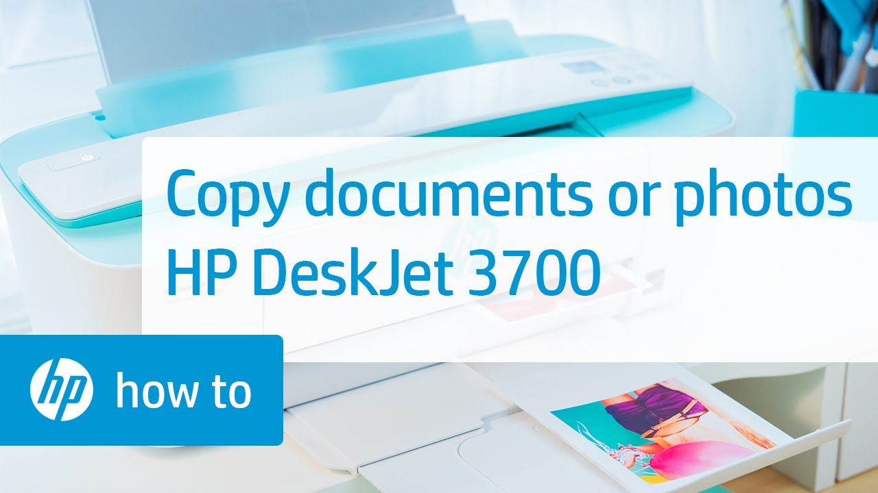 Loading Documents Or Photos And Copying On The HP DeskJet