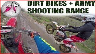 Dirt Bikes at the Army Shooting Range 2017