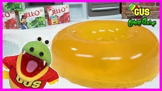 DIY GIANT GUMMY DONUT and how to make jell-o gummies