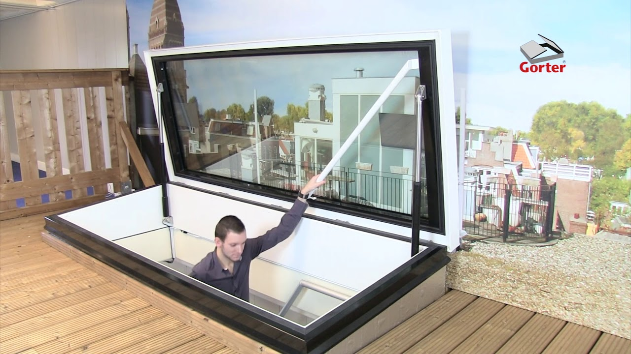 Gorter Roof Hatches Roof Hatch Glazed Youtube