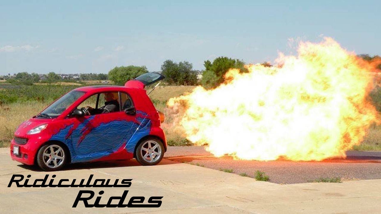 Smart Car Tire, Worlds First Jet Powered Smart Car Ridiculous Rides, Smart Car Tire