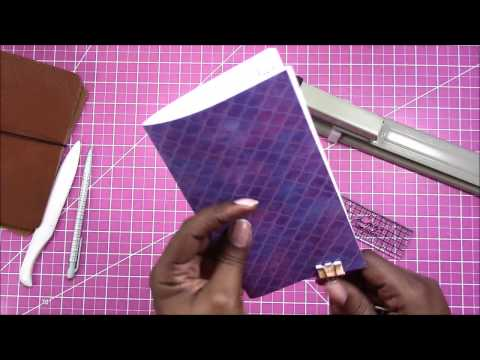 DIY Traveler's Notebook Setup Series: Create a Notebook from Printed Inserts