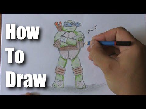 How To Draw A Ninja Turtle