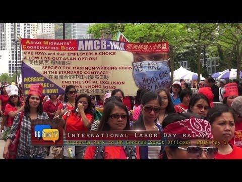 Overseas Filipino Workers in Hong Kong Join International Workers