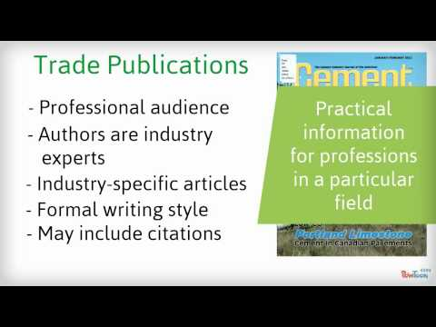 Scholarly, Trade & Popular Publications