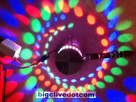 Inside an LED spiral wall light.