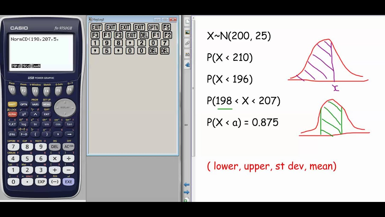 How To Do Normal Distribution On Your Casio Fx9750gii